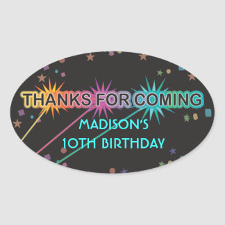 Laser Tag Letters Thank You Favor Sticker