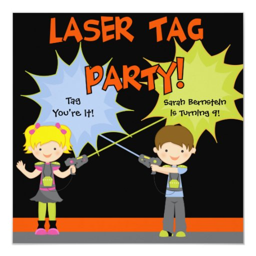Lazer Tag Invitations is awesome invitation template