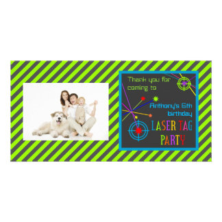 Laser Tag Party Birthday Thank You Card