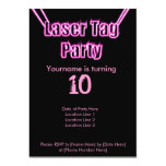 Laser Tag Party Pink Invitation
