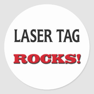 Laser Tag Rocks Classic Round Sticker