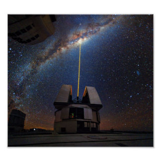 Laser Towards Milky Way Poster