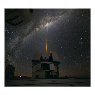 Laser Towards Milky Ways Centre Poster