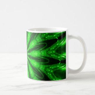 Laser verde taza de café