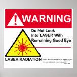 LASER Warning Print