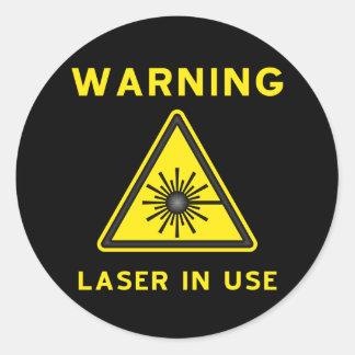 Laser Warning Symbol Sticker