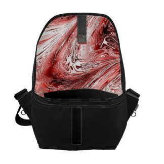 laserArt 05 red (L) Messenger Bag