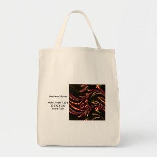 laserArt 11 (L) Grocery Tote Bag
