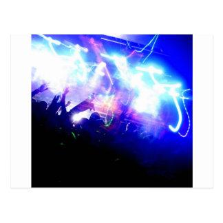 Lasers & Crowd Postcard
