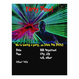 """Lasers en el aviador del fiesta de DJ Folleto 8.5"""" X 11"""""""