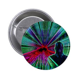 Lasers en el botón/la insignia de DJ Pin