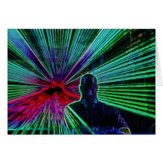 Lasers on DJ blank notelet / card