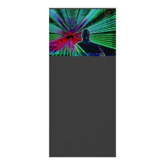 Lasers on DJ rack card