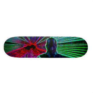 Lasers on DJ skateboard