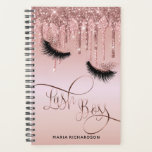"""Lash Boss Makeup Eyebrow Eyes Lashes Dripping Gold Planner<br><div class=""""desc"""">This trendy and elegant planner with dripping gold and hand drawn rose gold lashes is perfect for lash boss / makeup artists, eyelash extension business, lash extension, fashion bloggers, lash bar, beauty salon... The foil details are simulated in the artwork. No actual foil will be used in the making of...</div>"""