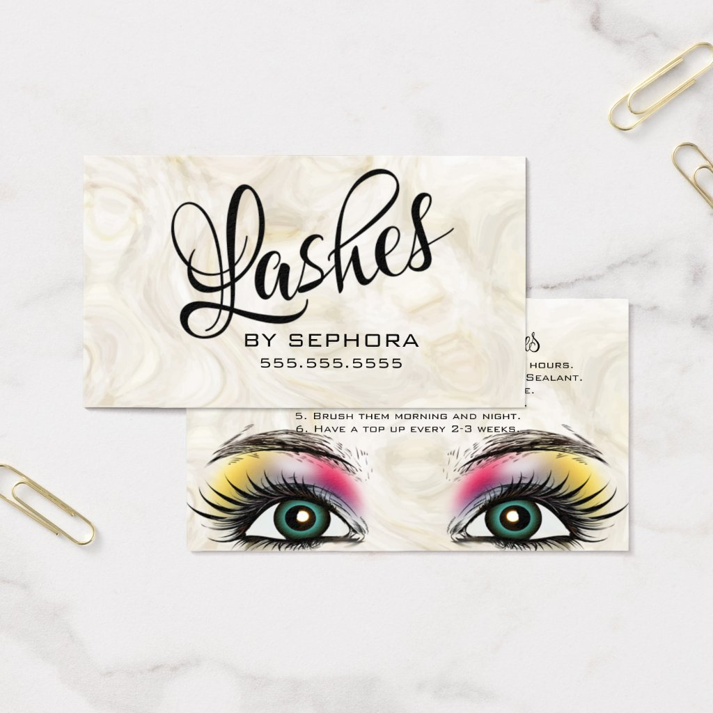 Lash Extensions Beauty Consultant Expert Business Card