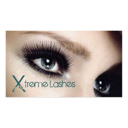 Lash Extensions Lashes Salon Business Cards