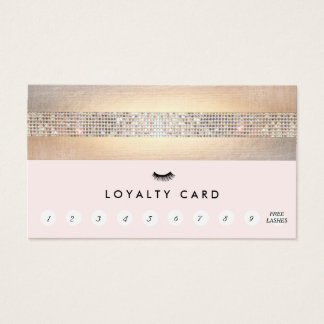 Lash Extensions Pink Customer Loyalty 10 Punch Business Card