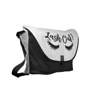Lash Out Eyelashes Lash Salon Makeup Artist Messenger Bag