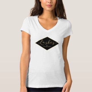 Lash Salon Black/Gold Personalized T-Shirt