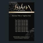 """Lashed Makeup Artist Black Floral Beauty Salon Flyer<br><div class=""""desc"""">Lashes Makeup Artist Black Floral Beauty Salon Brochures.</div>"""