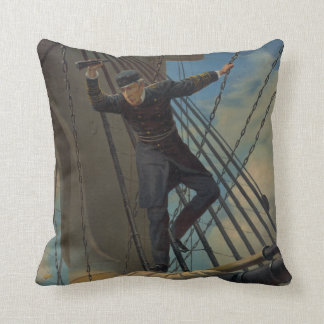 Lashed to the Shrouds Farragut Passing the Forts Throw Pillow
