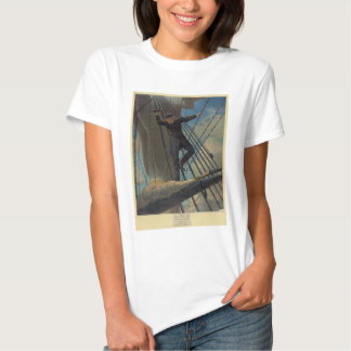 Lashed to the Shrouds Farragut Passing the Forts Tshirt