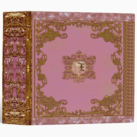 Lasher Blossom Pretty Pink Monogram Binder
