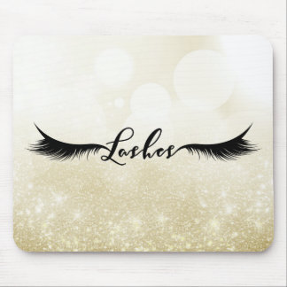 Lashes Black Eyelashes Extensions Makeup Beauty Mouse Pad