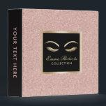 "Lashes &amp; Brow Makeup Artist Rose Gold Beauty Salon 3 Ring Binder<br><div class=""desc"">Lashes &amp; Brow Makeup Artist Rose Gold Beauty Salon Binder.</div>"