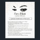 "Lashes &amp; Brows Eyelash Aftercare Instruction Flyer<br><div class=""desc"">Lashes Makeup Artist Aftercare Instruction Flyers.</div>"
