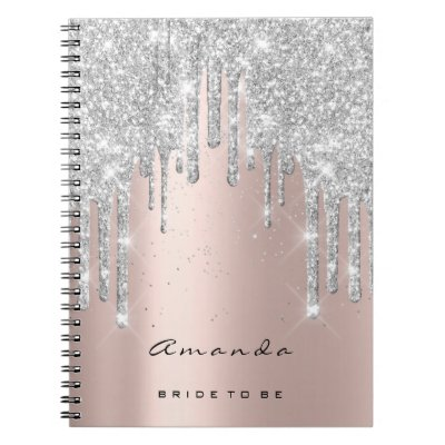 Lashes Confetti Makeup Bridal Gray Rose Spark Notebook