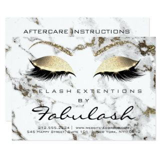 Lashes Extension Aftercare Instruction White Eye Card
