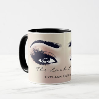Lashes Extension Eye Makeup Studio Peach BlushPink Mug