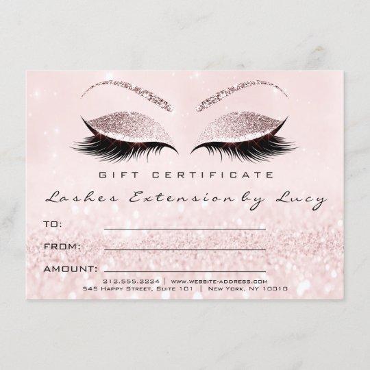 lashes extension makeup certificate gift glitter. Black Bedroom Furniture Sets. Home Design Ideas