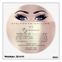 Lashes Extension Makeup Rose Blush Price List Wall Decal