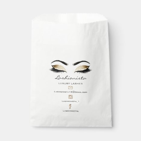 Lashes Extension Social Media Makeup Artist Sepia Favor Bag