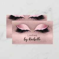 Lashes Lash Business Card Eyelash Rose Gold