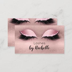 lashes lash business card eyelash rose gold - Eyelash Business Cards