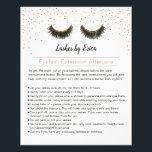 """Lashes Makeup Artist Eyelash Aftercare Instruction Flyer<br><div class=""""desc"""">Lashes Makeup Artist Aftercare Instruction Flyers.</div>"""