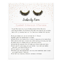 Lashes Makeup Artist Eyelash Aftercare Instruction Flyer