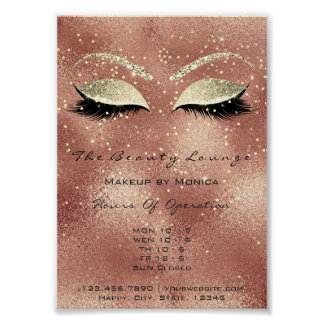 Lashes Makeup Artist Glitter Beauty Salon Skin Lux Poster