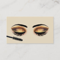 Lashes Makeup Artist Gold Glam Eyelash Salon Business Card