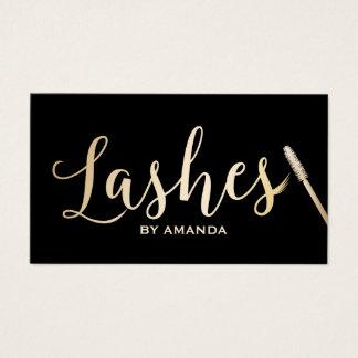 Lashes Makeup Artist Modern Black & Gold Business Card