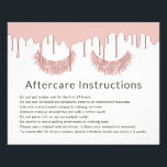 "Lashes Makeup Artist Rose Gold Dripping Aftercare Flyer<br><div class=""desc"">Lashes Makeup Artist Rose Gold Dripping Aftercare Instructions.</div>"