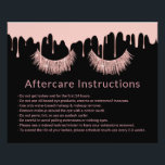 "Lashes Makeup Artist Rose Gold Drips Aftercare Flyer<br><div class=""desc"">Lashes Makeup Artist Rose Gold Dripping Aftercare Black Instructions.</div>"