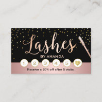 Lashes Makeup Artist Rose Gold Script Loyalty