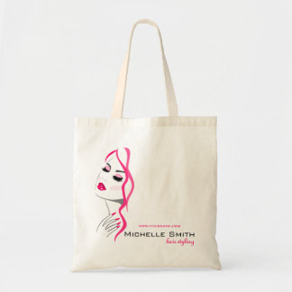 Lashes Manicure Hair Pink Girl Beauty Branding Tote Bag