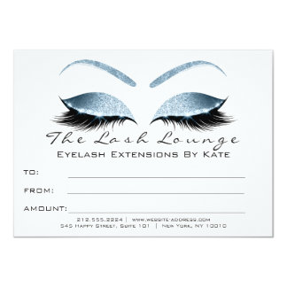 Lashes White Black Blue Makeup Certificate Gift Card