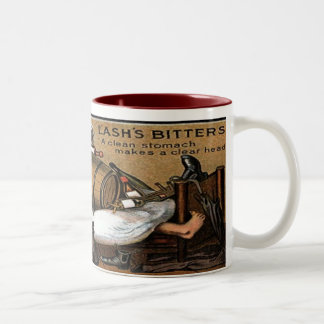 Lashs Man Barrel Bitters Vintage label Two-Tone Coffee Mug